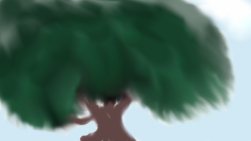 Painting a tree exercise
